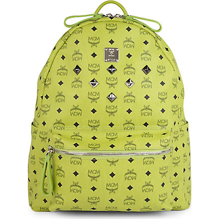 MCM Studded basic large backpack (Green