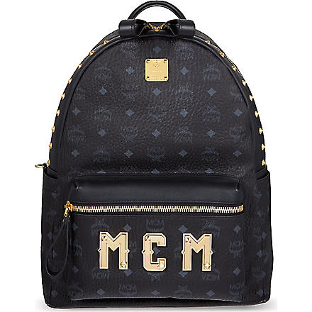 MCM Stark plaque medium backpack (Black
