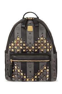 MCM Road stripe stud backpack