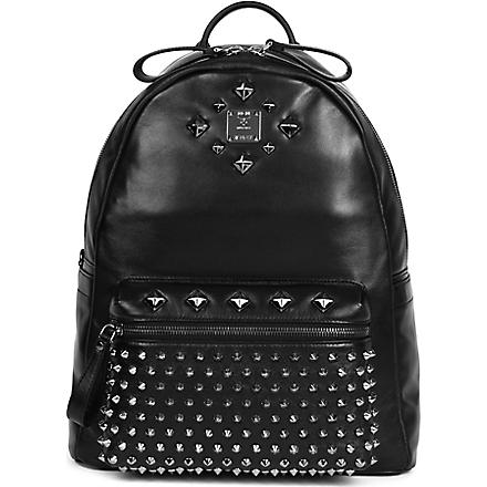 MCM Medium studded stark backpack (Black