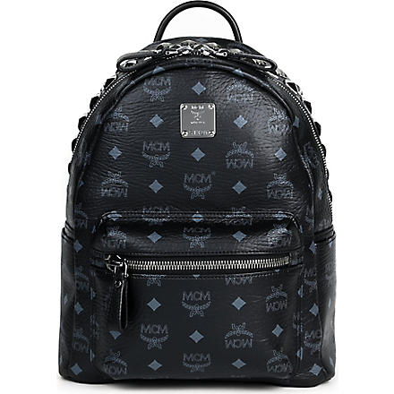 MCM Studded leather small backpack (Black