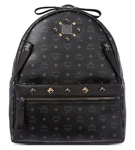MCM Dual Stark large leather backpack (Black