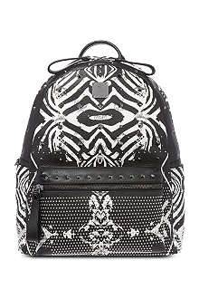 MCM Funky zebra medium leather backpack