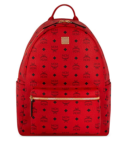 MCM Stark Classic medium backpack (Ruby red