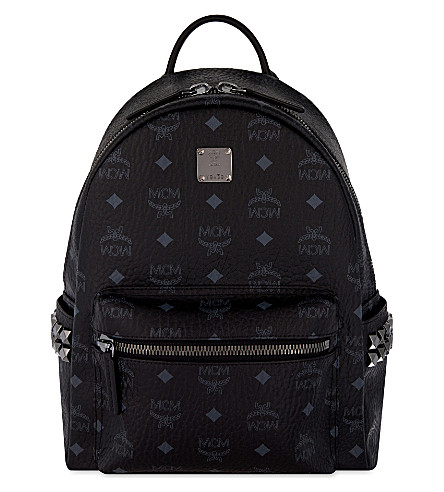 MCM Stark stud detail small backpack (Black
