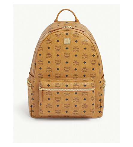 MCM Medium stark backpack (Cognac