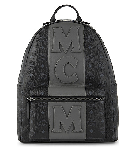 MCM Large stark logo backpack (Black