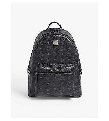 MCM Stark semi-medium coated-canvas backpack (Black