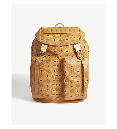 MCM Gustav Visetos large backpack (Cognac