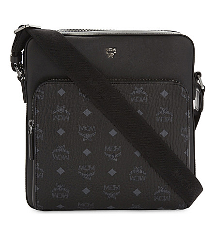 MCM Ottomar visetos small messenger bag (Black
