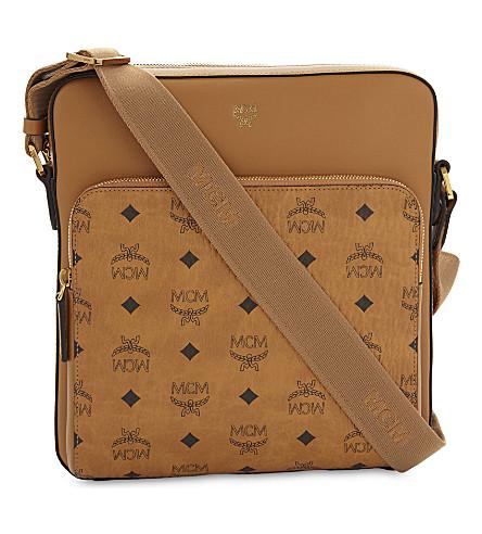 MCM Ottomar visetos small messenger bag (Cognac