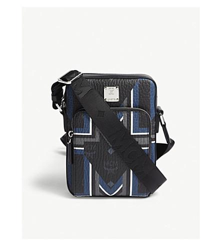 MCM Gunta M Stripe traveller cross-body bag (Black