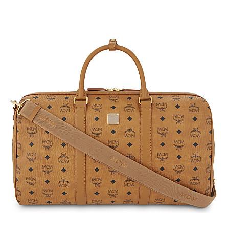 MCM Voyager edium weekend bag (Cognac