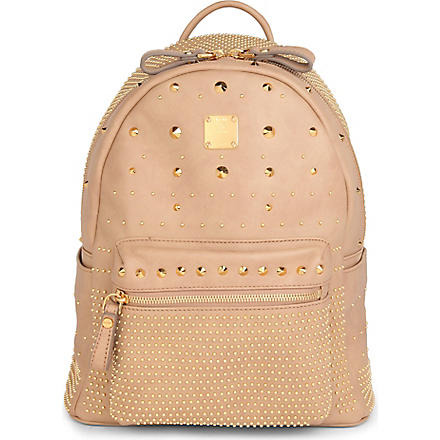 MCM Studded small backpack (Beige