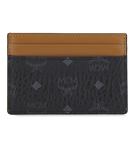 MCM Claus coated canvas card holder (Black