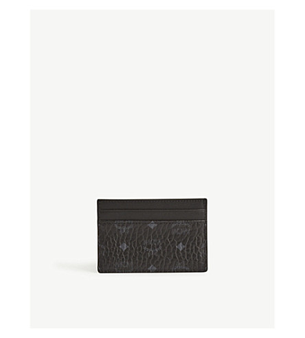 MCM Coated canvas card holder (Black