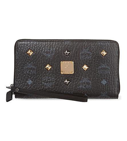 MCM Stark leather wallet (Black