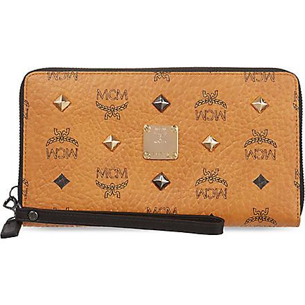 MCM Stark leather wallet (Cognac