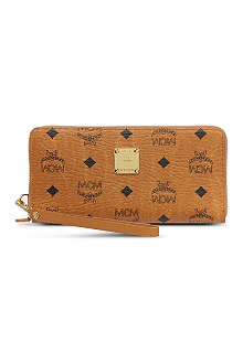 MCM Stark zipped leather wallet
