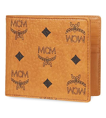 MCM Heritage billfold wallet (Cognac