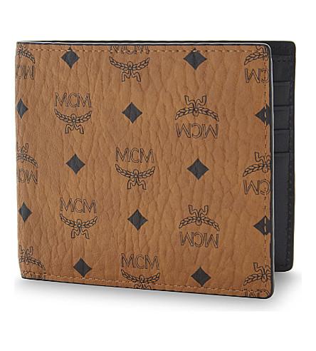 MCM Leather billfold wallet (Cognac