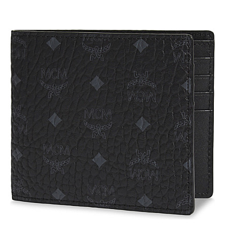 MCM Visetos canvas billfold wallet (Black