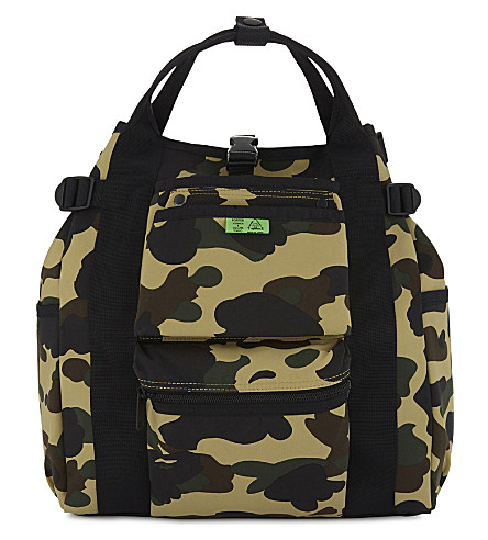 A BATHING APE Porter camouflage backpack (Yellow