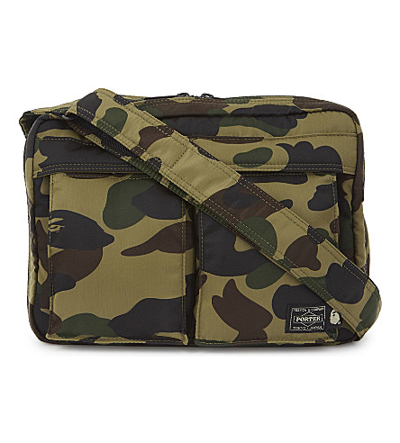 A BATHING APE 1st camo shoulder and waist bag (Green