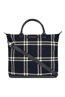 WANT LES ESSENTIELS O'Hare houndstooth tote
