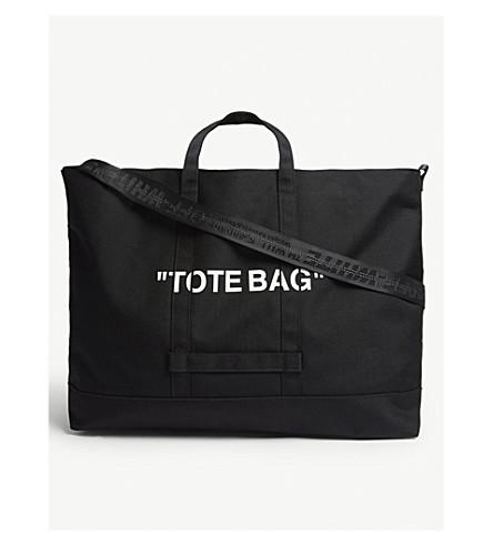 532e04d2421a ... OFF-WHITE C O VIRGIL ABLOH Quote tote bag (Black+white. PreviousNext