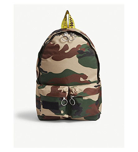 OFF-WHITE C/O VIRGIL ABLOH Camouflage canvas backpack (Camo