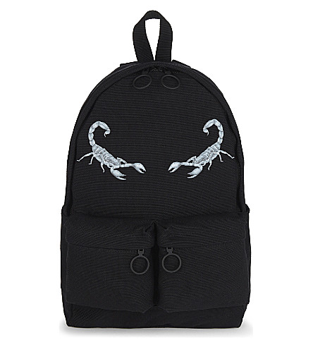 OFF-WHITE C/O VIRGIL ABLOH Scorpion print cotton backpack (Black