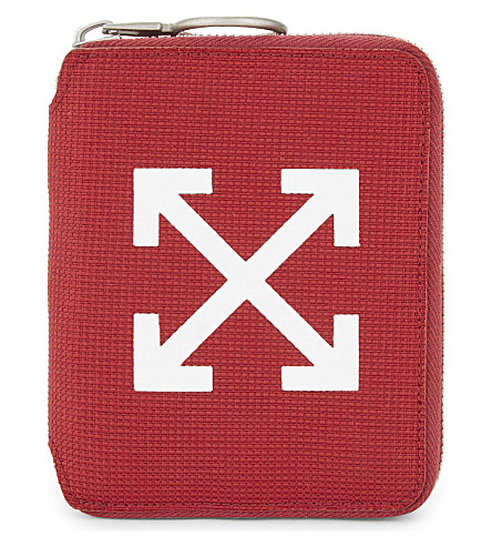 OFF-WHITE C/O VIRGIL ABLOH Arrows wallet (Bordeaux+white