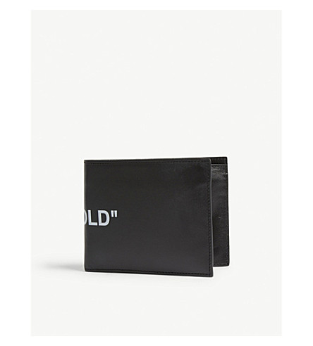 OFF-WHITE C/O VIRGIL ABLOH Quote leather bi-fold wallet (Black+white
