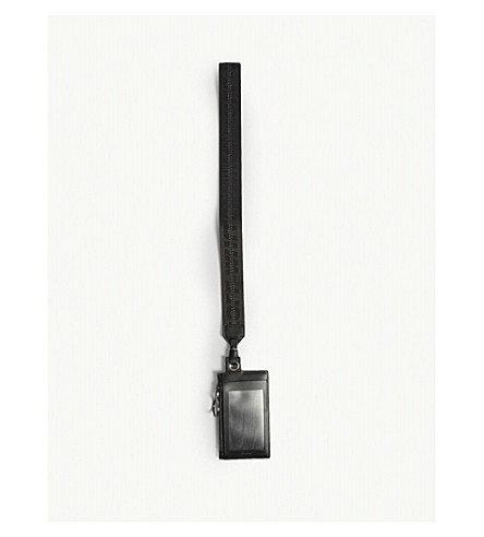 OFF-WHITE C/O VIRGIL ABLOH Lanyard leather wallet (Black