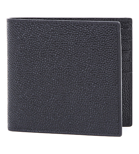 THOM BROWNE Pebble grain leather billfold (Black