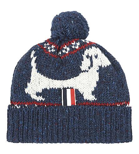 THOM BROWNE - Hector Browne fairisle mohair bobble hat ...