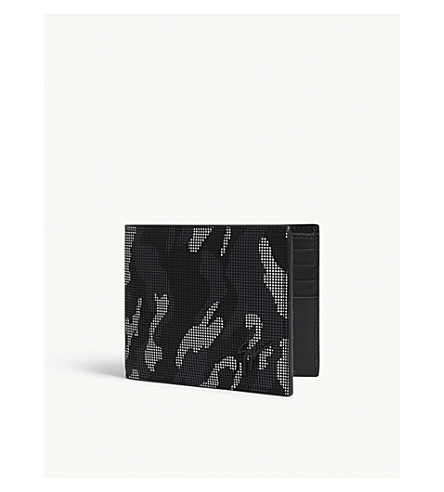 GIUSEPPE ZANOTTI Camouflage leather billfold wallet (Black+camo