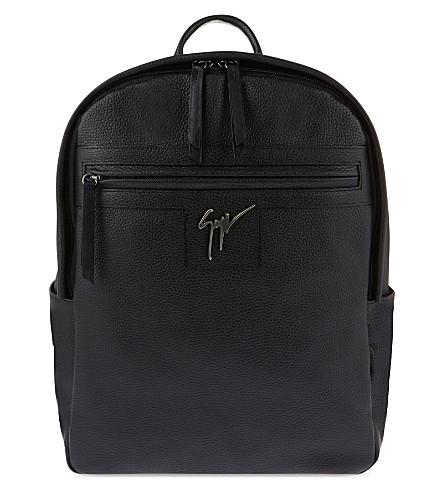 GIUSEPPE ZANOTTI Gladio leather backpack (Black anthracite