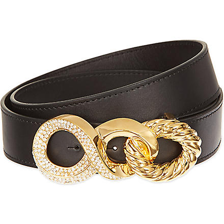 GIUSEPPE ZANOTTI Chain buckle belt (Black