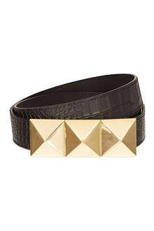 GIUSEPPE ZANOTTI Pyramid buckle belt