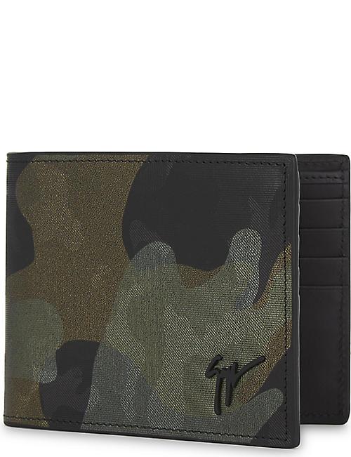 GIUSEPPE ZANOTTI Holographic camouflage leather billfold wallet