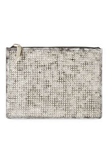 GIUSEPPE ZANOTTI Studded metallic leather document holder