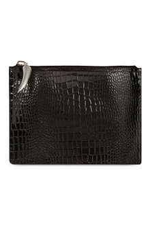 GIUSEPPE ZANOTTI Stamped patent leather document case