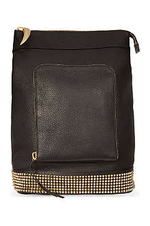GIUSEPPE ZANOTTI Asymmetric leather stud backpack