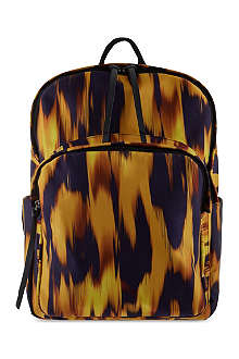 GIUSEPPE ZANOTTI Flame printed satin backpack