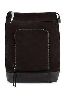 GIUSEPPE ZANOTTI Asymmetric suede backpack