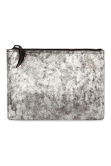 GIUSEPPE ZANOTTI Metallic leather document holder