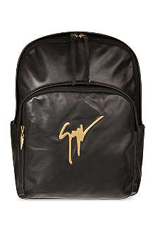GIUSEPPE ZANOTTI Leather logo backpack
