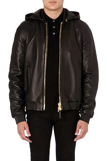 GIUSEPPE ZANOTTI Chain back leather jacket